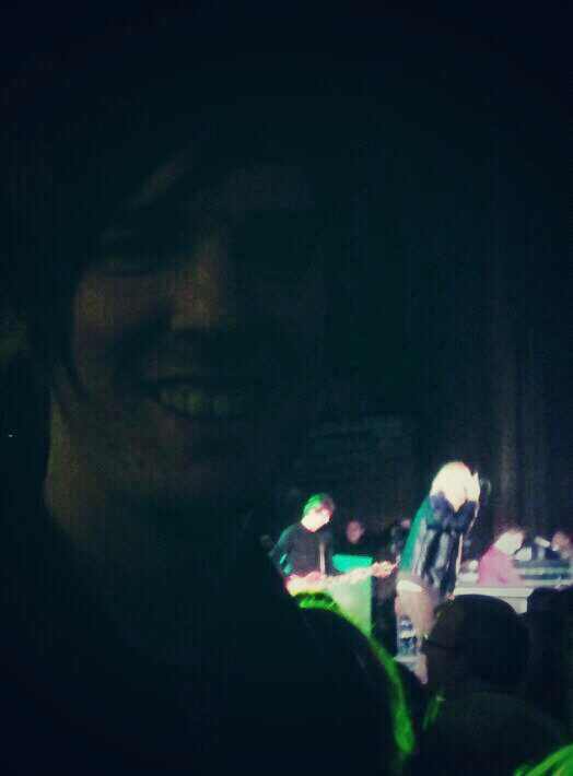 Just When You're Thinking Things Over, Tim Burgess gets in the background of your photo.