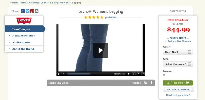 zappos product video from The Secret Guide to VSEO: Video and SEO