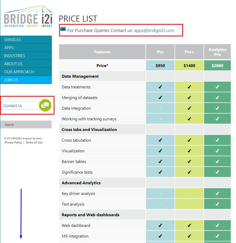 Bridge I2I Pricing