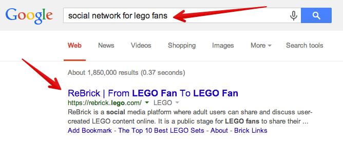 social media sites for lego fans