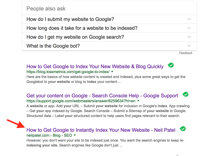 advanced SEO techniques example of poorly performing page