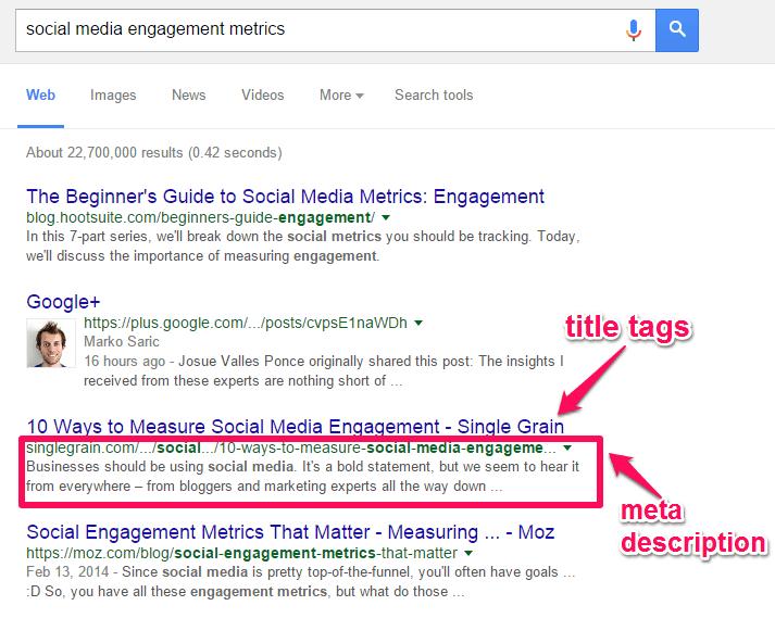 Resultado de imagen de busqueda en google meta description ejemplo