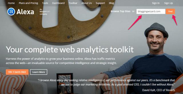 alexa competitor analysis tool