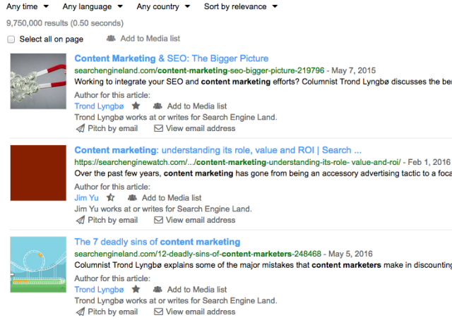 Anewstep search results - PR sites