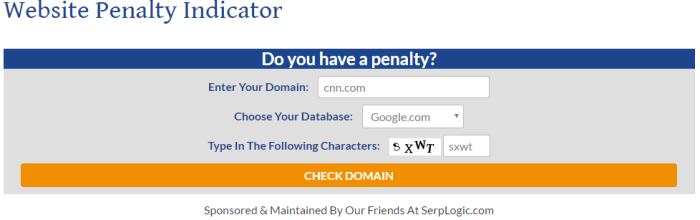 improve google ranking - website penalty indicator