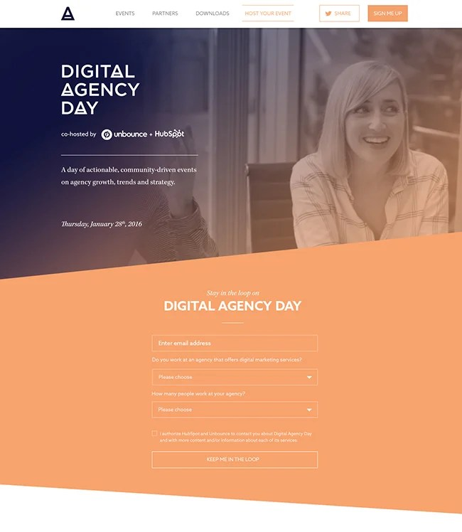 DigitalAgencyDay microsite cropped lead magnet example