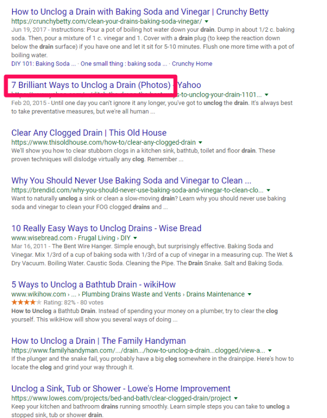 how google works drain example