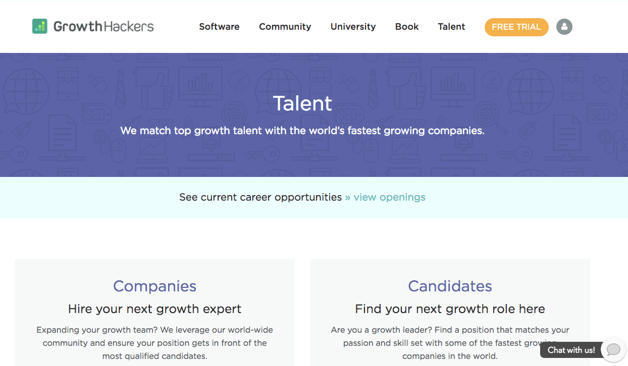 Growthhackers Matching Top Growth Talent With The World S Fastest Growing  Companies