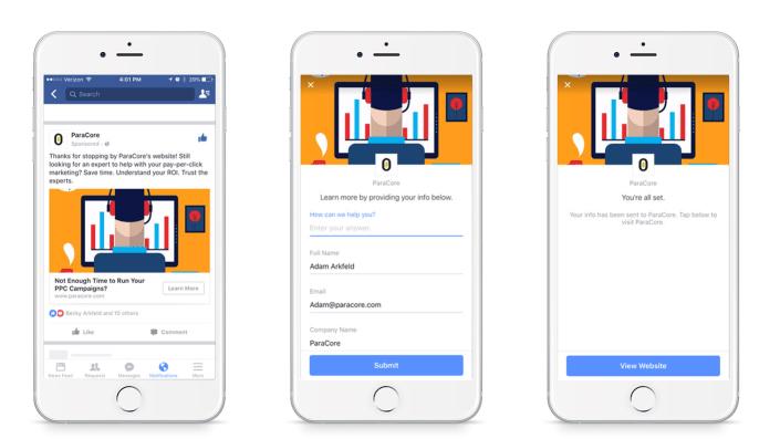 facebook lead ads for retargeting