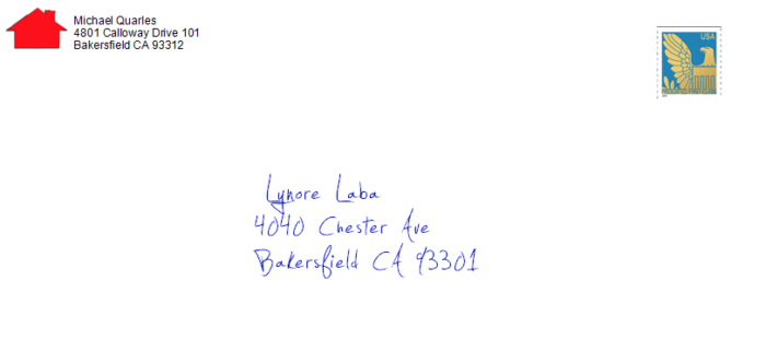 direct mail envelope example