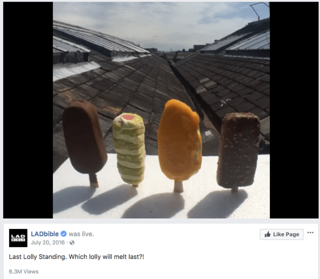 LADbible Last Lolly Standing Which lolly will melt last