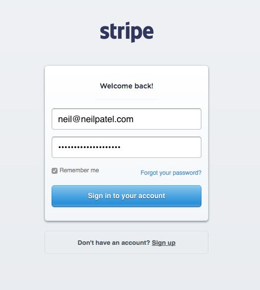 Stripe Login 1