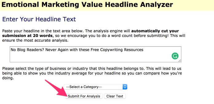 Advanced Marketing Institute Headline Analyzer