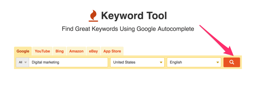 Arc and Keyword Tool 1 Google Keyword Planner Alternative For SEO FREE