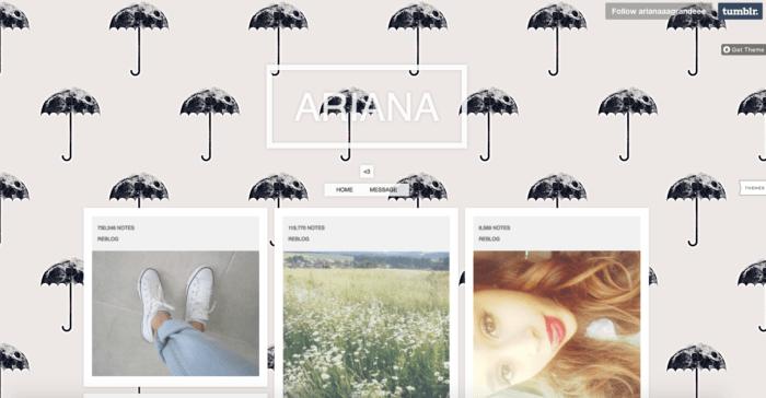 Ariana Tumblr social media marketing guide