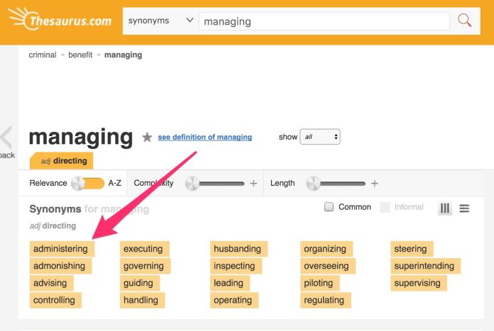 Managing Synonyms Managing Antonyms Thesaurus com