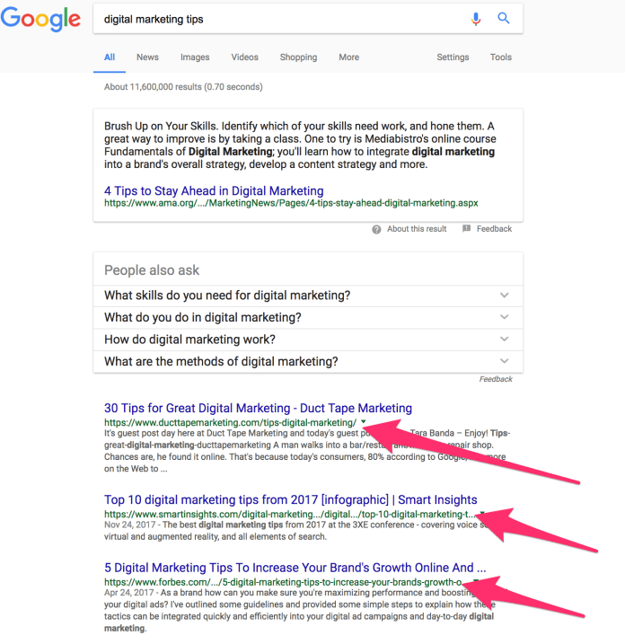 digital marketing tips Google Search 1