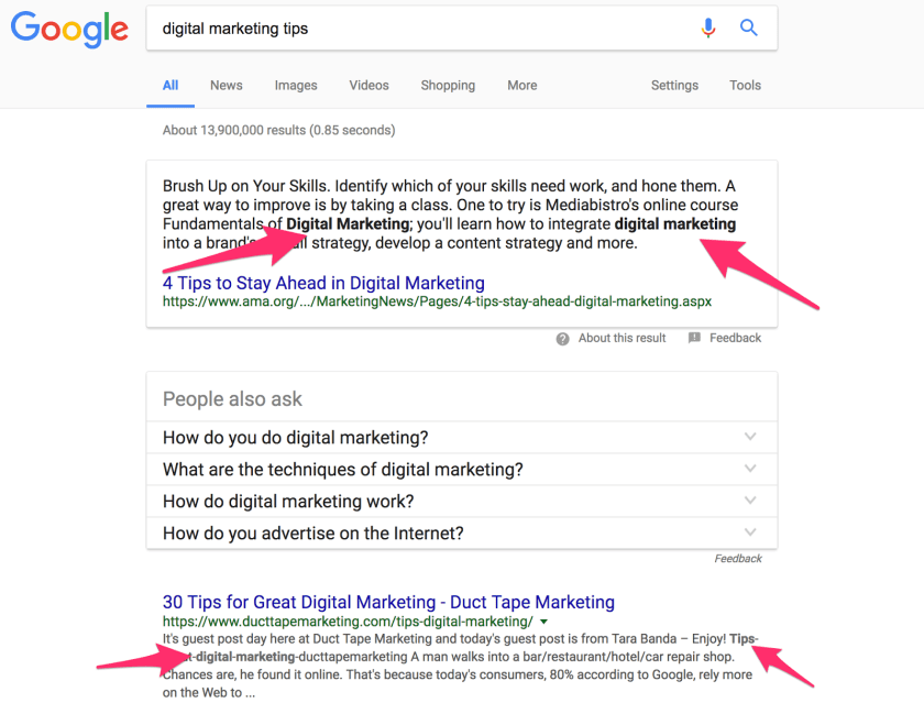 digital marketing tips Google Search