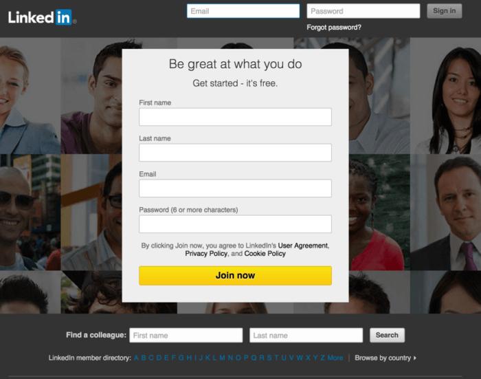 social media marketing LinkedIn screenshot