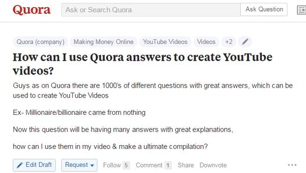 social media marketing quora example
