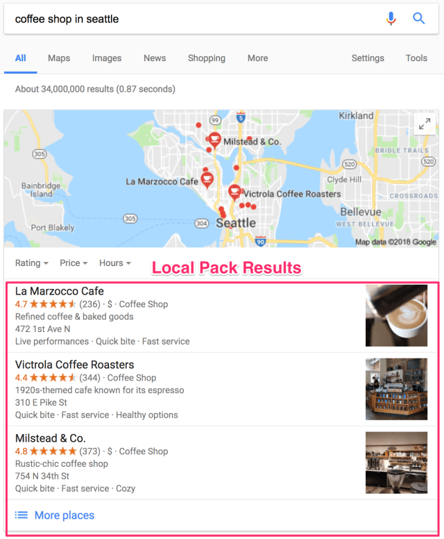 coffee shop in seattle Google Search