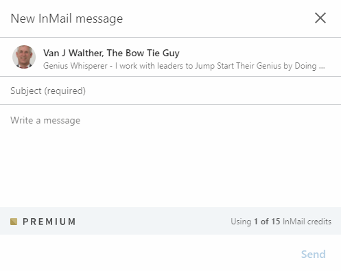 2nd degree inmail message