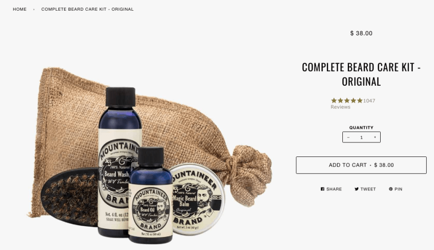 Complete Beard Care Kit Original Mountaineer Brand Products