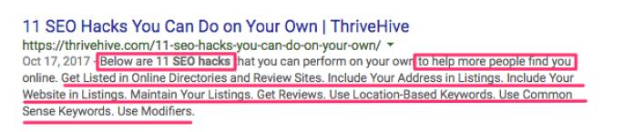 SEO hacks Google Search