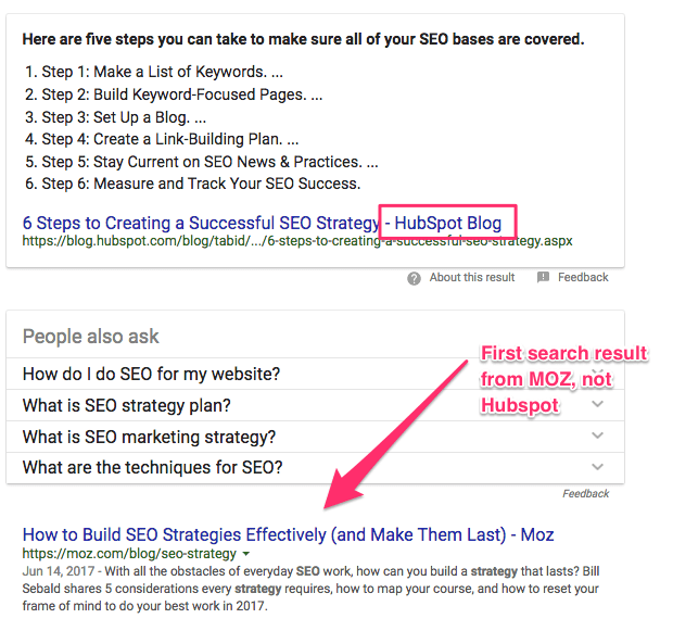 how to create an seo strategy Google Search2
