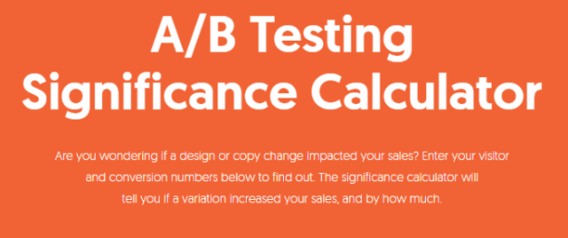 A/B testing significance bounce rate