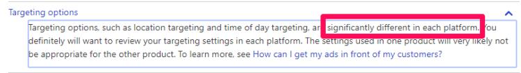 targetting options