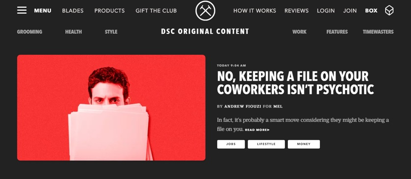 dollar shave club blog