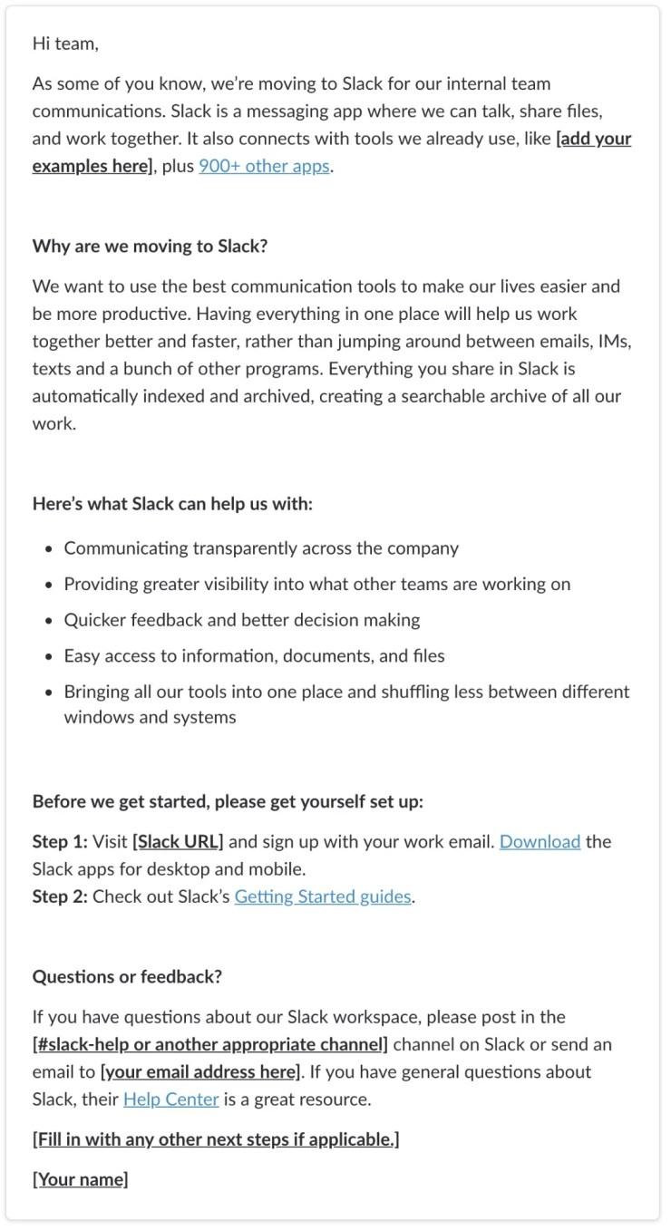 moving to Slack