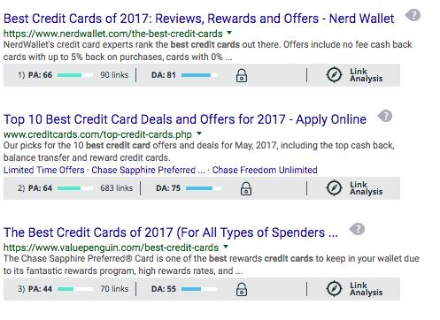 nerd wallet credit card keyword