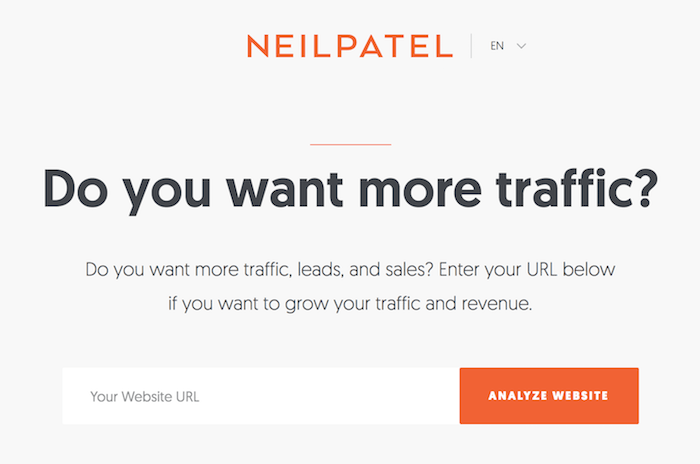 neil patel homepage