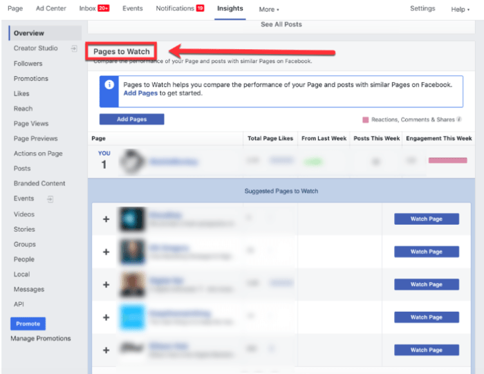 hidden facebook tools pages to watch