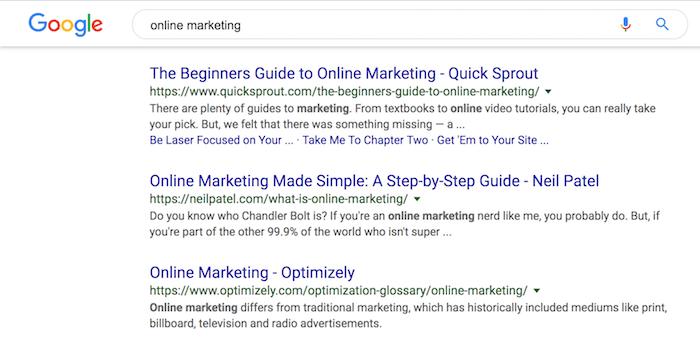 online marketing rankings