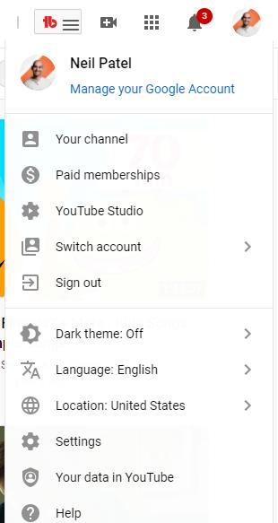youtube analytics studio example