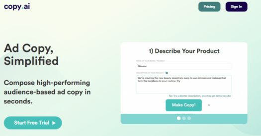 Use CopyAI to write PPC ad copy that converts
