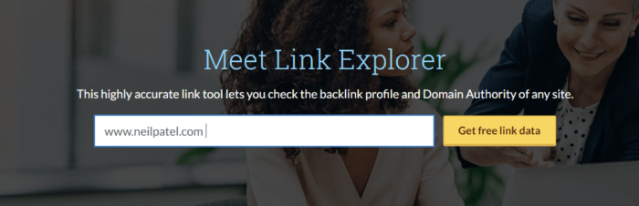 advanced SEO link explorer
