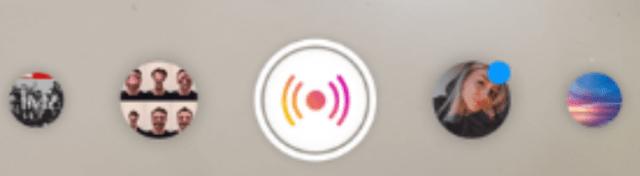 Instagram Live Rooms - live option icon