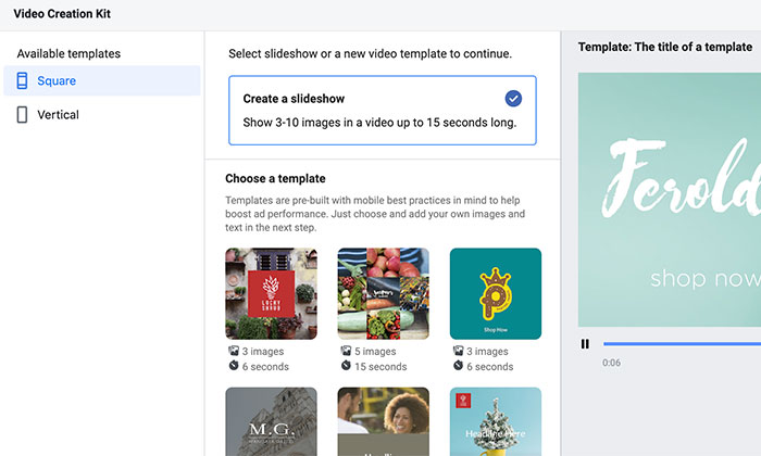 How to Use Facebook Creative Hub - Video Creation Kit