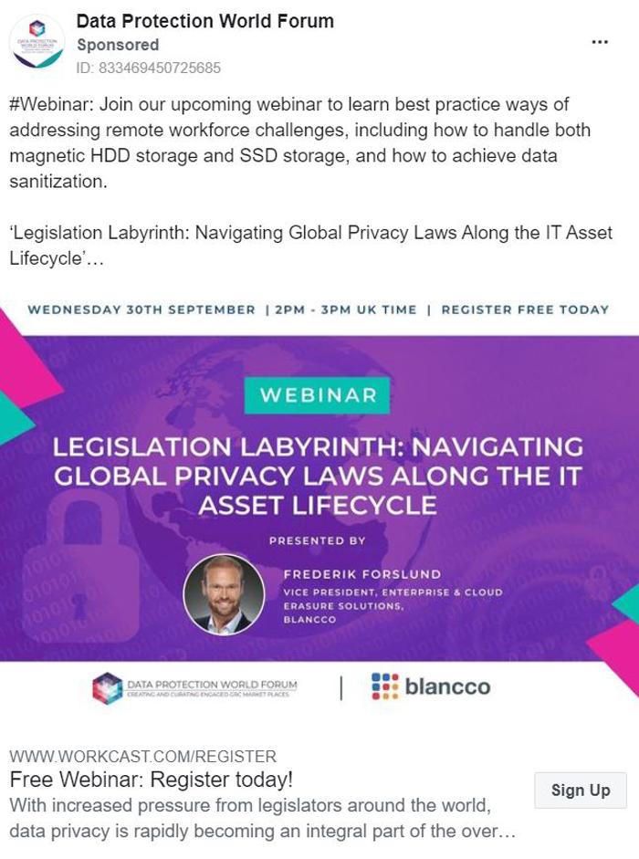 Thought Leadership Marketing - Data Protection World Forum