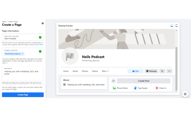 add your podcast to facebook podcast - your profile