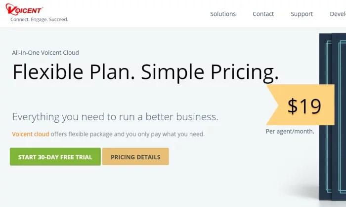Voicent Cloud main splash page for Best Auto Dialer Software
