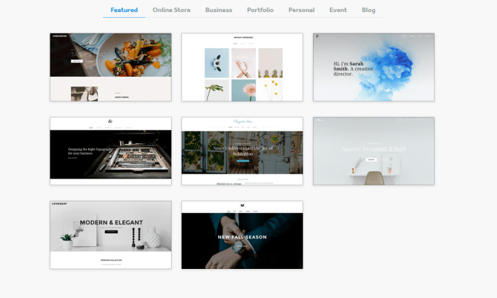 Weebly themes for Best Website Builders