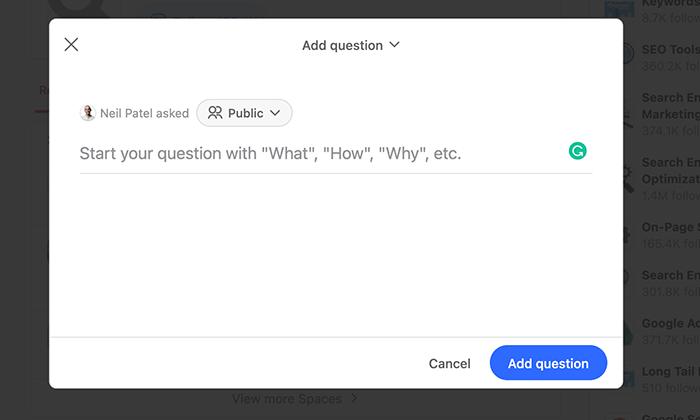 answer box on quora