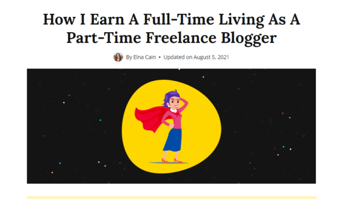 make full time money as freelance blogger how screenshot: how to monetize a low-traffic blog