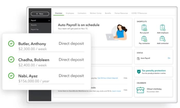 QuickBooks interface for Best Payroll Services