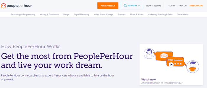 Examples of Niche Marketplaces for B2C Services - People Per Hour